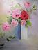 floral 2 pink roses by Jeanne de Campos-Rousseau
