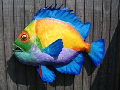 Rainbow Fish by Jeanne Guerin-Daley Acrylic ~  x