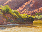 Afternoon Light on the River by Lee McVey Pastel ~ 12 x 16