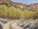 Road in Springtime at Noon by Lee McVey Pastel ~ 12 x 16