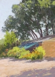 Sunlit Morning by Lee McVey Pastel ~ 8 x 6