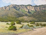 Sandia Light by Lee McVey Pastel ~ 12 x 16