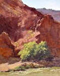 Afternoon on the Colorado River by Lee McVey Pastel ~ 10 x 8