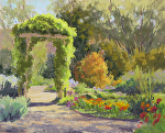 Light on the Arbor by Lee McVey Pastel ~ 8 x 10
