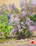 Lilacs in the Courtyard by Lee McVey Pastel ~ 10 x 8