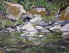 Bear River Rocks & Fauna by Michelle Murphy-Ferguson Oil ~ 9 x 12