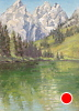 String Lake Calm by Michelle Murphy-Ferguson Oil ~ 10 x 8