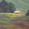 Late Afternoon, Garrapata Barn by Michelle Murphy-Ferguson Oil ~ 11 x 14