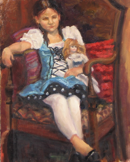 Polka Dots and Ribbons - Oil
