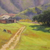 Monterey Weathered Barn by Michelle Murphy-Ferguson Oil ~ 8 x 10