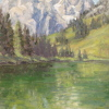 String Lake Calm by Michelle Murphy-Ferguson Oil ~ 10 x 8