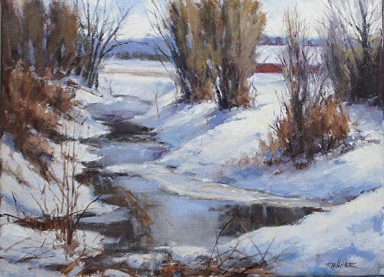 A winters walk - Oil