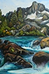 Mountain river by Amy Brown Oil ~ 24 x 18