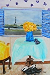 My Paris apartment by Amy Brown Oil ~ 14 x 11