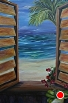 "Caribbean Moonlight (rt) by Amy Brown Oil ~ 30"" x 40"""