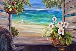 "Caribbean Morning by Amy Brown Oil ~ 30"" x 40"""