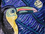"Ceramic Mural-Toucan by Amy Brown Clay ~ 21"" x 25"""