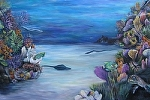 "Tropical Sea by Amy Brown Oil ~ 30"" x 40"""