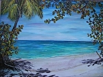 """Tropical Shade Giclee by Amy Brown Oil ~ 30"""" x 40"""""""