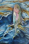My Rainbow Trout by Amy Brown Oil ~ 24 x 18