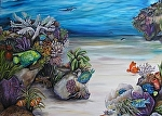Under the tropical sea by Amy Brown Oil ~ 3' x 4'