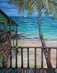 My Beach House Suite #1 by Amy Brown Oil ~ 4' x 3'