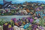 "Tropical sea # 3 by Amy Brown Oil ~ 30"" x 40"""