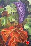 California Grapes Artist Embellished giclee by Amy Brown Oil ~ 40 x 30
