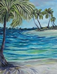 Palm Island by Amy Brown Oil ~ 16 x 12