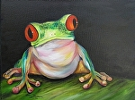 Big Eyed Tree Frog by Amy Brown Oil ~ 11 x 14