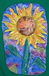 Single Sunflower by Amy Brown Clay ~ 15 x 10