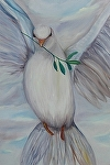 """Peace for the New Year by Amy Brown Oil ~ 20"""" x 16"""""""