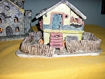 Haunted  Yellow Beach House by Amy Brown Clay ~ 8 x 10