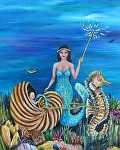 Do Mermaids have Fairy Godmothers? by Amy Brown Oil ~ 14 x 11