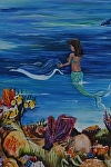 Michele the Mermaid by Amy Brown Acrylic ~ 14 x 11