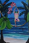 Tree Pose on the beach by Amy Brown Acrylic ~ 14 x 11