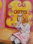 Crepes by Amy Brown Oil ~ 14 x 11