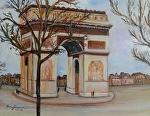 The Arch De Triomphe by Amy Brown Oil ~ 14 x 11