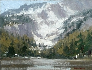 "Summer Snow by Jeffrey Horn Oil ~ 7"" x 9"""