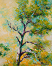 Pine Abstract by Marion Rose Acrylic ~ 16 x 12