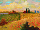 Tuscan Warmth by Marion Rose Acrylic ~ 12 x 16