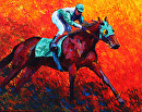 Clean Race by Marion Rose Acrylic ~ 16 x 20