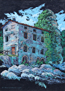 Tuscan Building by Marion Rose Acrylic ~ 9.25 x 6.25