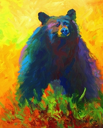Alert!  - Black Bear - Oil