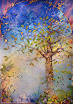 "Song of Heaven Let There Be Light by Frederick Somers Giclee' ~ 19.75"" x 14"""