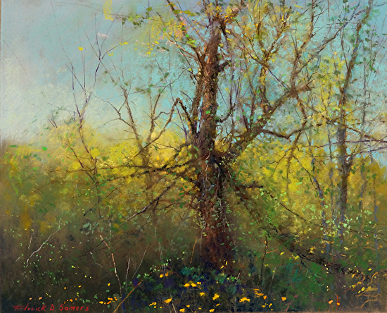 Blooming Spring by Frederick D Somers - Pastel
