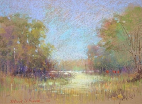 "Through Still waters by Frederick Somers Pastel ~ 12 "" x 16"""