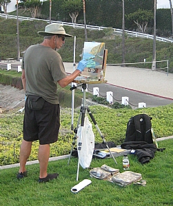 Painting on Catalina Island by Rick Delanty  ~  x
