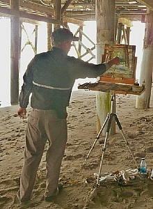 painting under the pier by Rick Delanty  ~  x