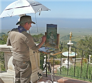 Painting at Hearst Castle by Rick Delanty  ~  x